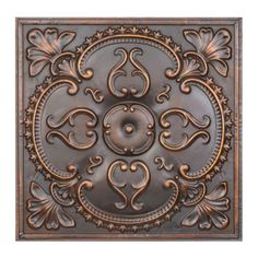 Create a classic look in any room with the Bronze Medallion Tile Wall Plaque. Elegantly carved, the wall plaque's intricate floral medallion is truly stunning.