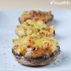 Portobello relleno de tortilla de patata