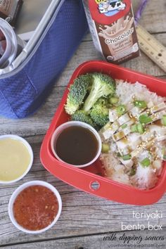 Teriyaki Chicken Bento Box with Dipping Sauces #HorizonB2S - your homebased mom