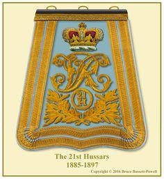 British; 21st Hussars, Officer's Sabretache, 1885-97