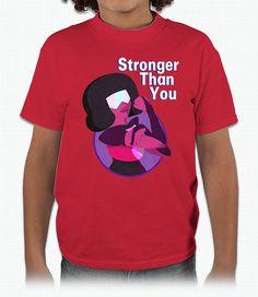 Stronger Than You – Youth T-Shirt  #stevenuniverse #steven #universe #crystalgems #garnet #amethyst #pearl #ruby #sapphire
