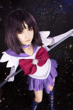I wanted to be Saturn, but her cosplay is expensive. But she's so cute!!