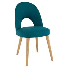 Wren Living - Soho Oak Uph Chair - Teal Fabric - The stylish teal upholstery on this chic dining chair is bang on trend, ideal for your contemporary dining setting.