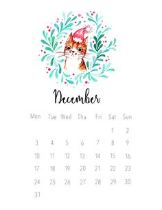 A monthly calendar for 2018 made from my hand painted watercolor cat & floral illustration series. Available in both A5 and A6, printed on ivory card stock. You can use these cats as a small desk calendar or (as I do) put them in your journal or planner to decorate each month. And they make