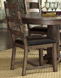 2 Boulder Creek Pecan Veneer Rubberwood MDF Dining Chairs