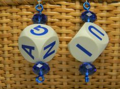 Boggle Cube Earrings by NonSequiturShoppe on Etsy, $15.00