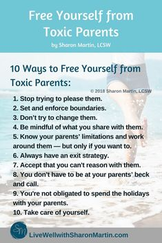 Free yourself from toxic parents # toxic Parenting 10 Ways to Free Yourself from Toxic Parents - Live Well with Sharon Martin Toxic Relationships, Healthy Relationships, Relationship Tips, Mental And Emotional Health, Emotional Abuse, Emotional Detachment, Verbal Abuse, Emotional Healing, Lettering Practice Sheets