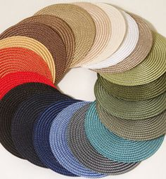 Signature Woven Placemat by @Deborah Rhodes: Available in 20 colors.