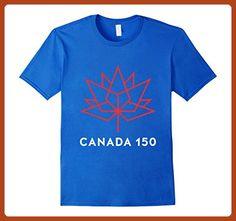Mens Happy Canada 1st July 150th Birthday T-shirt 3XL Royal Blue - Birthday shirts (*Partner-Link)