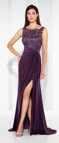 Graceful Chiffon Bateau Neckline Floor-length Sheath Mother Of The Bride  Dresses With Beaded Lace 82ff85770a2