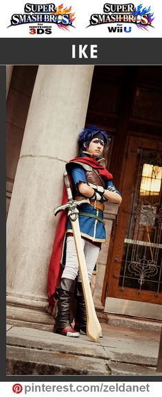 Ike by Kaiser-Mony in Super Smash Bros cosplay series | @nintendo #3DS #WiiU Credits in original post at http://www.pinterest.com/zeldanet/super-smash-bros-cosplay-series/