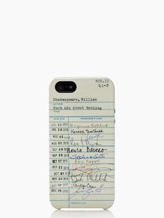Kate Spade library card iphone case