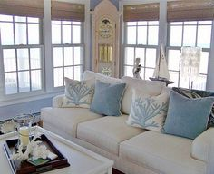 seaside living - beach theme decorating ideas