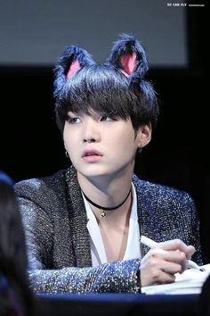 My favorite Suga Moments are with kitty ears. Cause I wear em tooo