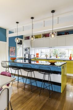 Kitchen design ideas: Ways to add colours into the space - Home & Decor Singapore Kitchen Decor, Kitchen Design, Blue Rooms, Room Interior Design, Bespoke Furniture, Colorful Furniture, Soft Furnishings, Primary Colors, Custom Design