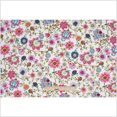 Pink/White Floral Cotton Voile