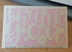 Cut That Design provides a large selection of Free SVG Files for Silhouette, Cricut and other cutting machines. Available in SVG, DXF, EPS and PNG Formats. Cricut Cards, Svg Files For Cricut, Silhouette Cameo Projects, Silhouette Studio, Silhouette Portrait, Cricut Design Studio, Thank You Card Design, Circuit Crafts, Free Thank You Cards