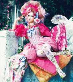 Arika Takarano / ALI PROJECT Vocal. J-POP .    Neo rococo fashion.