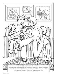 1 - I am a child of God coloring page