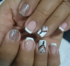 Desi, Diana, Hair Beauty, Glamour, Nail, Nail Jewels, Short Nail Manicure, Nail Manicure, Mandala Nails