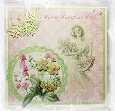 KARINE KREATION                   : Cartes fleurs - Cartes fête des mères