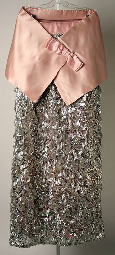 Evening dress with a matching stole Sarmi Date: 1966 Culture: American Medium: metallic Accession Number: 1970.92.2a, b