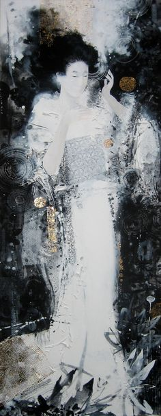 "Saatchi Online Artist: Yulia Luchkina; Mixed Media, Painting ""The Pillow Book ""  Gorgeous!"