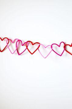 diy: heart chain garland