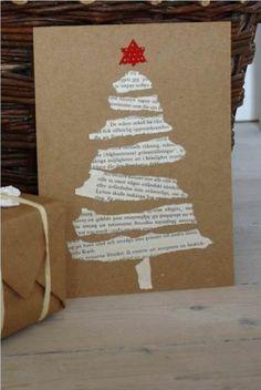 basteln papier einfache weihnachtskarten tannenbaum