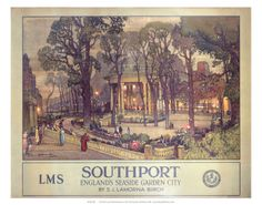 Southport, Englands Seaside Garden City, LMS, c.1923-1947 Poster