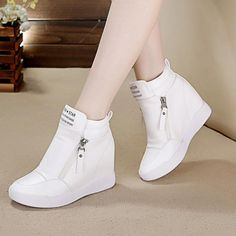 Fashion English letters canvas casual shoes within 8 cm higher Fashion Boots, Sneakers Fashion, Kawaii Shoes, Shoe Boots, Shoes Heels, Aesthetic Shoes, Minimalist Shoes, Sneakers Mode, Prom Shoes