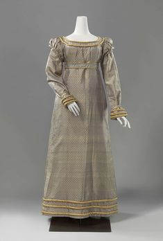 Gown with a belt, anoniem, c. 1818