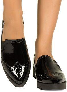 Oxford Preto Verniz Taquilla - Taquilla - Loja online de sapatos femininos
