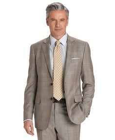Fitzgerald Plaid Deco 1818 Suit Tan