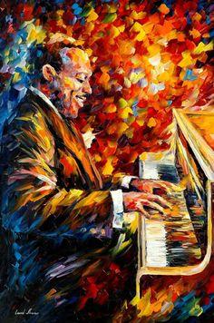 Jazz oil painting by leonid Afremov by Leonidafremov on DeviantArt