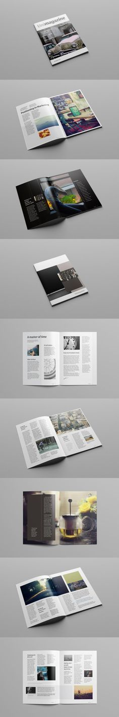 #magazine #design from Graphic Pear | DOWNLOAD: https://creativemarket.com/graphicpear0/474743-Magazine-Template?u=zsoltczigler