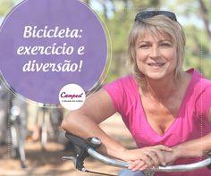 Se exercitar não tem idade! E um dos exercícios mais divertidos que você pode fazer, é andar de bicicleta. Além de ser ótimo para o corpo, você pode espairecer a cabeça vendo o movimento das ruas e parques da cidade. #dicaCampesí