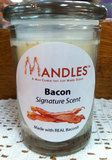 Bacon Candle - Mandles 'Man Candles that Just Make Scents' Soy Candles, Scented Candles, Candle Companies, Vintage Glassware, Cocoa, Pumpkin, Antique, How To Make, Pumpkins
