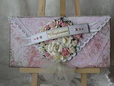 pink flowered envelope