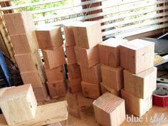 summer fun with diy wooden yard dice, how to, outdoor living, woodworking projects