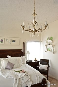 Master Bedroom Chandelier, Pulled from the trash and rewired.