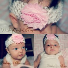 For only $6.20 you can get an interchangeable headband and shabby chic bow  Go to etsy.com/shop/paisleygirlbowsllc