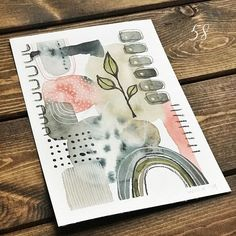 "I'm eight days ""ahead"" of the pack of folks doing right now. That's a really good thing because today, I purchased… Abstract Watercolor Art, Watercolor And Ink, Watercolor Illustration, Watercolor Paintings, Watercolors, Collage Art, Collages, Karten Diy, Inspiration Art"