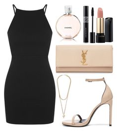 """Untitled #750"" by artiola-fejza ❤ liked on Polyvore featuring Topshop, Yves Saint Laurent, Givenchy, Lancôme and Chanel"