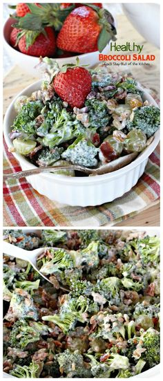 Healthy Broccoli Salad | Can't Stay Out of the Kitchen | delicious yet healthier version of the traditional #broccoli #salad. This one uses #Greekyogurt.