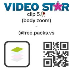 Free Qr Code, Clip Free, Video Editing Apps, Black And White Aesthetic, Qr Codes, Video Clip, Videos, Star, Accessories