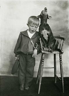 Here's a collection of 29 vintage photos capture lovely moments of people with their pets or animals...