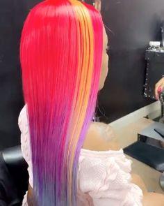 Cute Hair Colors, Beautiful Hair Color, Hair Color Purple, Cabello Underlights, Underlights Hair, Fox Hair Dye, Dip Dye Hair, Pelo Color Azul, Flame Hair