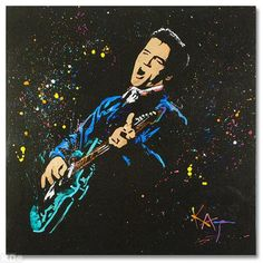 NOW IS YOUR CHANCE TO OWN THE REMARKABLE CREATIONS OF ACCLAIMED POP ARTIST KAT! Full of life and unmistakable talent, KATs paintings are coveted world-wide. Elvis III is an original acrylic painting on stretched canvas, hand-signed by the artist. The layers of paint on the canvas is amazing. Gallery-wrapped and ready to hang! Includes Certificate of Authenticity! Measures approx. 30in x 30in $800 contact gozer16869@aol.com