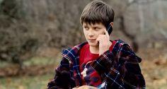 Charlie Tahan   The Harvest (2013), directed by John McNaughton; cinematography by Rachel Morrison   #screencaps, horror movie, film, cordless phone, side-eye